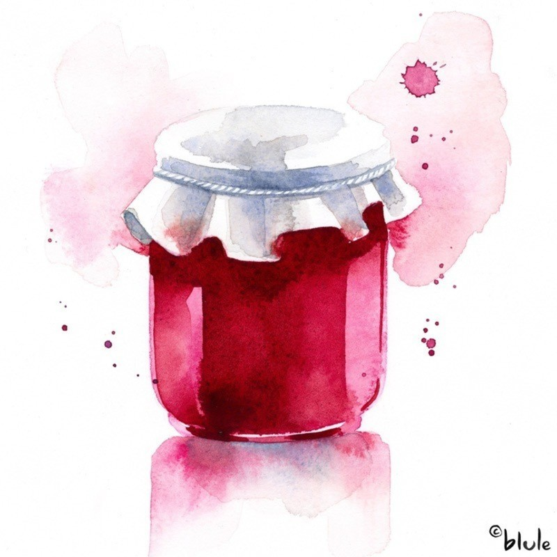 Petit pot de confiture blule - Petit pot confiture ...